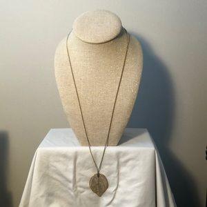 H&M Gold Leaf Long Necklace